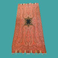 19th Century Paisley Long Shawl
