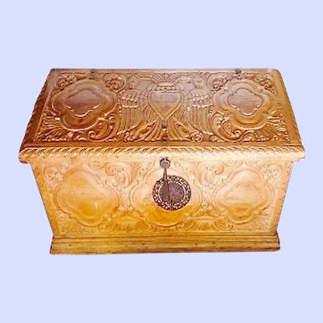 Spanish Colonial Mexican Carved Chest, 19th Century