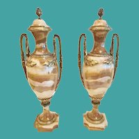 Pair of French Onyx & Bronze Cassoulettes, CA.1890