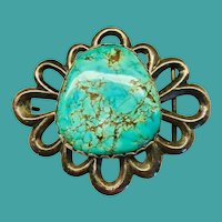 Vintage South Western Turquoise Buckle