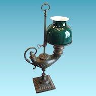 "Antique Single Student Lamp, Bronze ""Aladdin Lamp"", CA.1880"