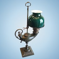 "Antique Single Student Lamp, Bronze ""Aladdin Lamp"", CA.1880"