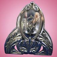 Antique Set of 12 Belgian Silver Knife Rests, CA.1890