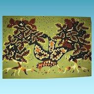 Vintage Mid-Century Moderne Tapestry by French Artist Raymond Hurtu, CA.1960's