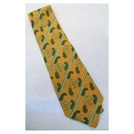 GIORGIO ARMANI  Brown Hunter Stripe Paisley Jacquard Print Silk Tie