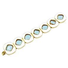 PIERRE CARDIN Reversible Turq Navy Lozenge Bracelet
