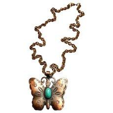 Copper Butterfly Pendant