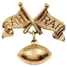 Gold Filled Football Rah Rah Pin