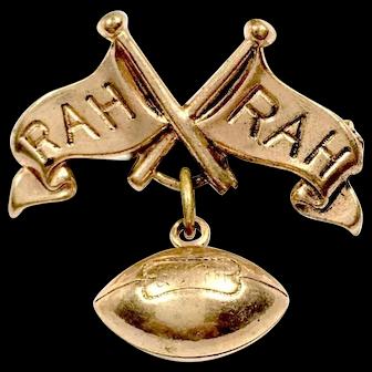 Gold Filled Football Rah Rah Pin