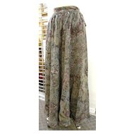 GEORGES RECH Paris for Synonyme Persian Tile Discharge Print Wool Challis Skirt