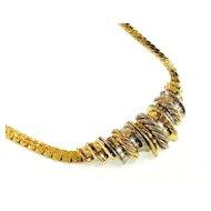 ORENA PARIS Mixed Metal Braided Effect Collar Necklace