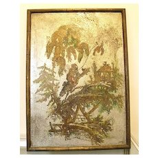 PHILIP and KELVIN La VERNE Mid Century Modern Figural Asian Inspired Metal Wall Hanging