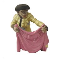 Resin and Enamel Monkey Figural