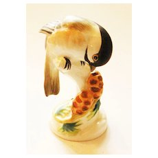 "Charming Crown Staffordshire ""Chickadee"" Bird Figural by Linley Adams"