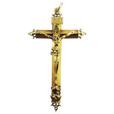 MASTERPIECE Unisex Early Spanish 22k Pectoral Cross Pendant, 15.12 Grams, c.1600!