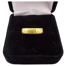 "MUSEUM-WORTHY Medieval 22k Posy Ring, ""En Bon An"" w/York Roses, c.1430!"