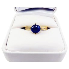 MAGNIFICENT Estate 2.57 Ct. TW Untreated Blue & White Sapphire/22k Ring w/GIA Valuation for $3,945.00, c.1960!