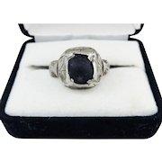 WONDERFUL Tudor-Era Unisex Silver/Black Stone Apotrapic Ring, c.1540!