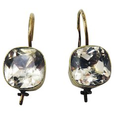 "MUST-HAVE Late Georgian Seven ""Carat"" TW Paste/9k Solitaire Earrings, c.1835!"