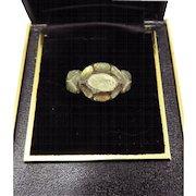SWEET Bronze Gilt/Paste Tudor Decorative Ring, c.1550!