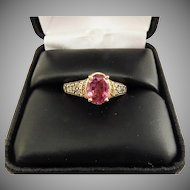 TRUE LOTUS 1.65 Ct. Untreated Padparadcha Sapphire Set in LeVian Diamond 14k Setting w/GIA Valuation of $6,750.00!
