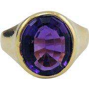 SUBLIME Unisex Victorian 4.53 Ct Siberian Amethyst/18k Ring, 7.02 Grams, c.1890!