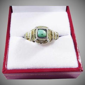 SUPERB Tudor Silver Gilt/Turquoise Decorative Ring, c.1530!