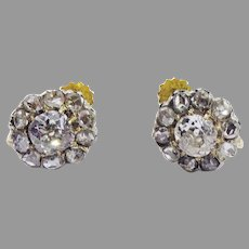 MAGNIFICENT Victorian 2.10 Ct. TW OMC and Rose-Cut/18k Earrings w/GIA Valuation of $6,500.00!