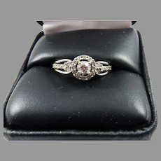 BEAUTIFUL Estate .44 Ct TW Diamond/14k Engagement or Dress Ring w/GIA Valuation of $2,100.00!