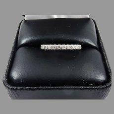WONDERFUL 2/3 Ct. Diamond/Platinum Diamond Eternity Ring, c.1920!