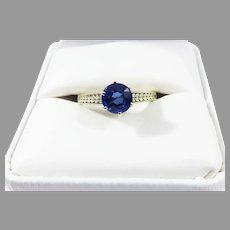 SUBLIME Edwardian 1.31 Ct. Sapphire Solitaire/14k Ring, c.1910, w/GIA Valuation of $2,500.00!