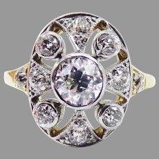 ELOQUENT Belle Epoque 1.27 Ct. TW OMC Diamond/18k Ring, c.1895, w/GIA Valuation of $6,000.00!
