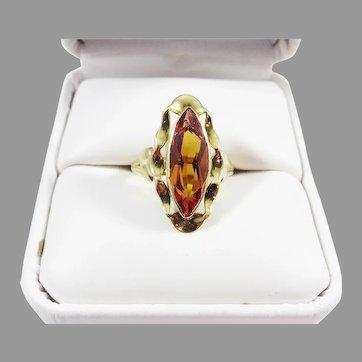 SO RARE! 3.88 Ct. Natural Vivid Orange Sapphire/14k Ring w/GIA Valuation of $5,750.00. c.1950!
