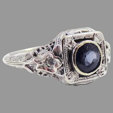 PHENOMENAL Art Deco Untreated .53 Ct. Natural Alexandrite/14k Ring w/GIA Valuation of $6,100.00, c.1920!