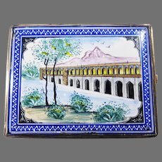 OUTSTANDING Persian Double-Sided Enameled Sterling Silver Card/Cigarette Case, c.1895!