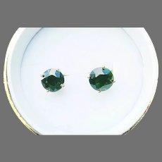 RARE PAIR of Estate-Fresh 4.15 Ct. TW Demantoid Garnet/14k Solitaire Earrings, w/GIA GG Valuation of $7,500.00!