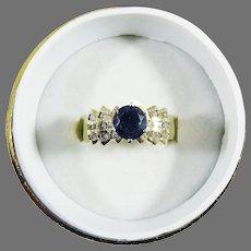 STUNNING Estate 1.71 Ct. TW Ocean Blue Sapphire/Diamond/14k Ring w/GIA GG Valuation of $2,850.00!