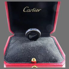MUST-HAVE 2.16 Ct. TW Unheated Sapphire/Platinum Eternity Ring Signed Cartier, c.1950!
