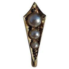 Antique Victorian 18K Gold Pearl Enhancer Bail