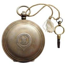 Victorian Hallmarked Chinese 800 Silver Key Wind Pocket Watch