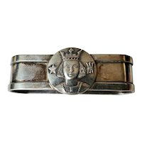 Swedish Sterling Silver Napkin Ring Commemorating Birth of King Carl XVI Gustaf 1946