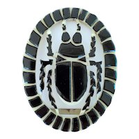 Art Deco Egyptian Revival Celluloid Belt Buckle