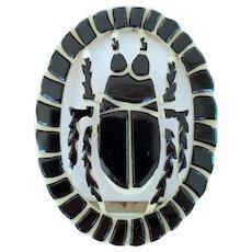 Art Deco Egyptian Revival Celluloid Belt Buckle