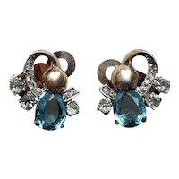 Mazer Sterling Silver Vermeil Clip-on Earrings