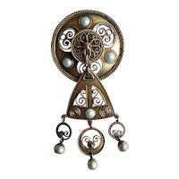 Antique David Andersen Art Nouveau 925S Pendant