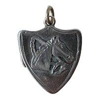 Vintage English Sterling Silver Horse Locket