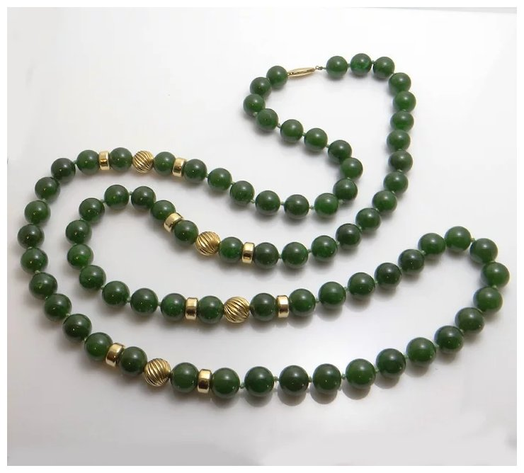 Antique jade pearl necklace famous necklace 2018 antique and vine jade jewelry collectors weekly aloadofball Images