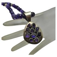 Chunky Jay King DTR Amethyst Gem Stone Necklace JUST REDUCED!