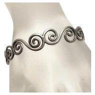 Sterling Silver Modernist Cuff Bracelet