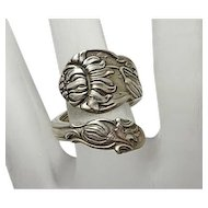 Vintage Sterling Silver Spoon Ring Very Fancy Gorham